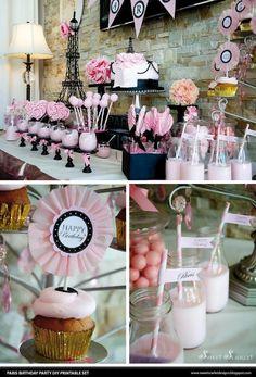 PARIS Party Printable Set Invitation by SweetScarletDesigns