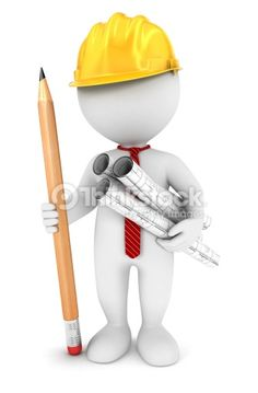 Illustration about white people architect, white background, image. Illustration of illustration, builder, construction - 29994303 Man Clipart, 3d Foto, 3d Man, Sculpture Lessons, Construction Services, Web Design Company, Stick Figures, White People, Royalty Free Images