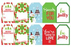 christmas tags printables - Buscar con Google