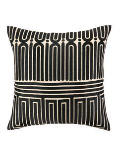 Trina Turk Maze Embroidered Pillow, Black