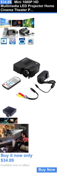 Home Theater Projectors: Mini 1080P Hd Multimedia Led Projector Home Cinema Theater Pc Av Vga Usb Hdmi Bh BUY IT NOW ONLY: $34.89