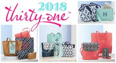 #31 2018 Thirty-One has so many items to close from... STUTIO Thirty-One, Midway Hobo, City Chic Bag, Retro Metro Bag, Little Dreamer, Demi Day Bag, Organizing Shoulder Bag, Cinch Sac, Sling-Back Bag, Lil' Go Backpack, Around Town Tote, Cindy Tote, Retro Metro Fold-Over, Beach-Ready Tote, Shore Enough Tote, Retro Metro Weekender, All Packed Duffel, Tons of Funds, Perfect Cents Wallet, All About the Benjamins, Rubie Mini, Mini Zipper Pouch & Zipper Pouch.