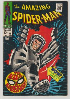 Amazing Spider-Man Vol 1 58 Silver Age Comic by RubbersuitStudios #spiderman #stanlee #silveragecomics #etsy