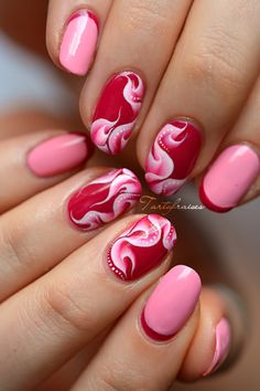 nail art flamme one stroke