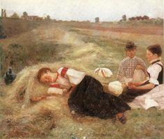 Istvan Csok: Hay gatherers