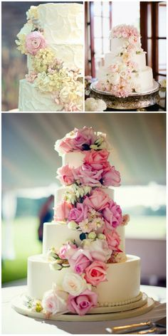 stuuning floral wedding cakes