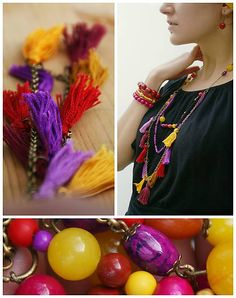 colourful ethnic necklace
