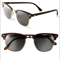 ray ban womens sunglasses cheap  Ray Ban RB3016 Clubmaster W0366 Tortoise/Arista Sunglasses 49mm ...