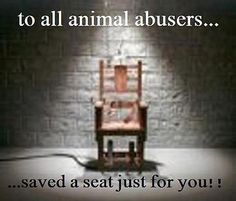 602655_381280325266398_1005100410_n by momiecat, via Flickr This is what needs t/b done to all animal abusers.  Our present system is not working.  They need a stronger deterrant to not commit these crimes.