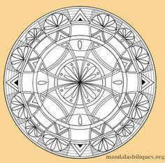 """Un mandala inspiré de l'évangile de Jean : """"je vous donne ma paix. """" #paix #mandala"""