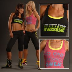 """Tanks - """"THIS ISN'T SWEAT. IT'S LIQUID AWESOME"""" & """"NO ONE EVER DROWNED IN THEIR OWN SWEAT"""""""
