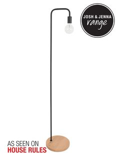 Lanie 1 Light Floor Lamp in Ash/Black