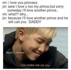 NamJin😍😭💘Fav ship out of bts Bts Namjoon, Bts Jin, Bts Bangtan Boy, Bts Boys, Seokjin, Taehyung, Namjin, Jin Dad Jokes, I Love Bts