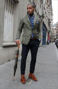 Jacket, Shirt, Pants, and Shoes