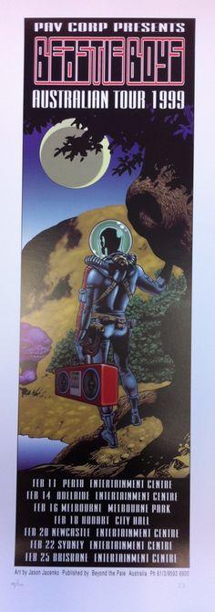 The Beastie Boys Australian Tour 1999 Poster by Jason Jacenko