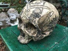 The Craft Skull, Carved Replica Masonic Skull