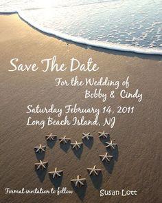 Save The Date Beach Wedding Photo Invitation by BeachwritingsNJ, $10.00