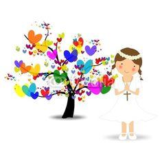primera comunion Shabbat Shalom Images, Communion Invitations, Borders For Paper, First Holy Communion, Fb Covers, Preschool Art, Mini Tattoos, Heart Art, Tree Art