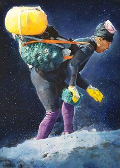 삶-해녀 ,  Life - haenyeo 74 x 103cm, 2016 work. 이명복
