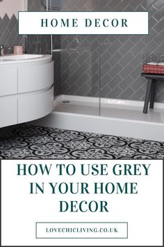 If you want ideas on how to use grey in your home, click through. Whether you want black and white ideas for a living room, grey with pops of colour, or with yellow, blue, pink and navy, find some inspiration in this home decor blog post. #lovechicliving #greyhome #blackandwhite Indian Home Interior, Minimalist Home Interior, Luxury Homes Interior, Luxury Decor, Home Decor Trends, Home Decor Styles, Home Decor Accessories, Decor Ideas, Affordable Home Decor