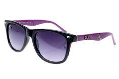 Ray Ban Wayfarer RB627 Sunglasses Black/Purple Frame