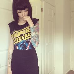 I want this Star Wars tshirt looks great tucked into the skirt x