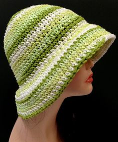 Crochet Summer Hat Beach Hat Autumn and Spriing by Africancrab, $15.00