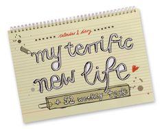 """Agenda """"My terrific new life"""" + 52 tareas para el nuevo año"""
