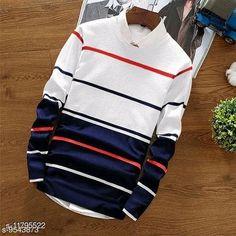 Sweatshirts Mens T-shirt Fabric: Cotton Sleeve Length: Long Sleeves Pattern: Striped Multipack: 1 Sizes: S (Chest Size: 36 in, Length Size: 28 in)  XL (Chest Size: 42 in, Length Size: 28 in)  L (Chest Size: 40 in, Length Size: 28 in)  M (Chest Size: 38 in, Length Size: 28 in)  XXL (Chest Size: 44 in, Length Size: 28 in)  Country of Origin: India Sizes Available: S, M, L, XL, XXL   Catalog Rating: ★4 (427)  Catalog Name: Trendy Elegant Men Sweatshirts CatalogID_2235184 C70-SC1207 Code: 673-11795522-198