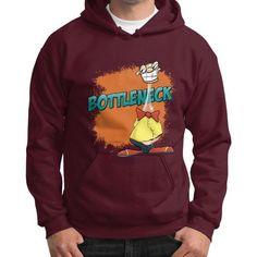 "WordPlay T-shirts & Designs ""BottleNeck"" by Neal Fox and Ron Kule on Gildan Hoodie (on man)"