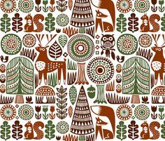autumn forest  fabric by dennisthebadger on Spoonflower - custom fabric