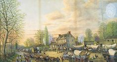 Fairview Inn, Three Mile House on Old Frederick Road. 1814. Thomas Coke Ruckle (1808-1891). Maryland Historical Society.