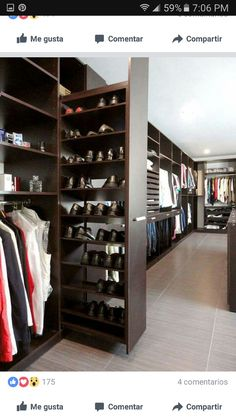 • p i n t e r e s t • @TeeJay2997 † Men Closet, Shoe Closet, Maximize Space, Dressing Room, Closet Designs, Personal Style, Designer Dresses, Armoire, Bedroom Decor