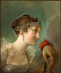 Jacques-Louis David – circa 1803-1807,Study for 'the Coronation of Napoleon, Head of Josephine.