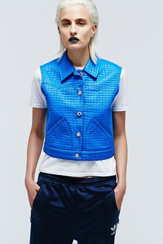 Vintage One-Of-A-Kind Blue Quilted Jacket http://uoeur.pe/uorenewal #UrbanOutfitters #Vintage