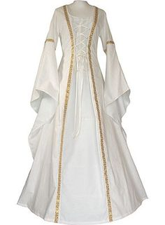 Yet another medieval gown that might be nice for a wedding...