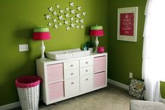Ikea bookcase as a changing table. Perfect!!