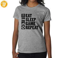 Eat Sleep Game Repeat XXL Damen T-Shirt (*Partner-Link)