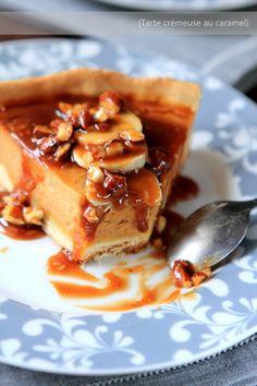Tarte crémeuse au caramel #RdvAuxMignardises