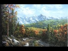 Oil Painting Waterfall Landscape - Paint with Kevin Hill - YouTube