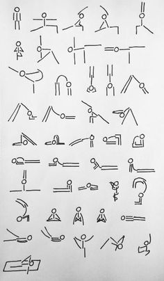 yoga stick man asanas!