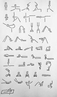yoga stick man asanas!