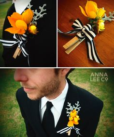 3 DIY ideas on how to use clothespins at your wedding including an unique DIY boutonniere tutorial. By Anna Lee Company. Crafty Wedding Ideas, Wedding Crafts, Pagan Wedding, Wedding Groom, Diy Wedding Flowers, Wedding Bouquets, Wedding Dresses, Boutonnieres, Wedding Designs