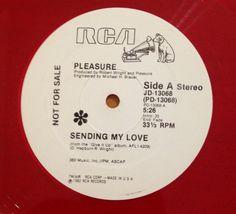 Pleasure Sending My Love 12 Inch PROMO Record Red Vinyl Collectible 1982 RCA #ClassicRBContemporaryRBDiscoFunkPostDiscoSoul
