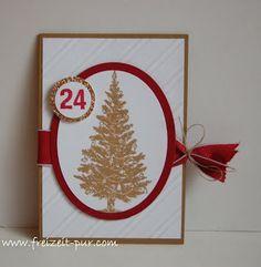 StampinUp! Weihnachten ABC-123SketchAlphabet-Numbers, Big Shot - Framelits Oval Kollektion, Big Shot - Schrägstreifen, Special Season, Tannenbaum
