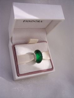 Authentic Pandora fascinating Green Faceted by JEWELSELAGANT