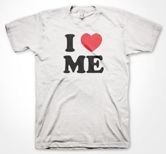 I Love Me T-shirt Jersey Shore Mens T-shirt I Heart Me Shirt Vinny The Situation Snookie Paulie D Funny MTV Show Tshirt Large White
