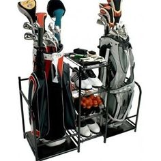 Golf Equipment Storage Rack Bags Clubs Shoes Steel Shelves Organizer Garage Home  sc 1 st  Pinterest & Gift Ideas for Florida Retirees | Pinterest | Golf Organizing and ...