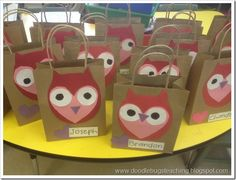 This is a set of 3 super easy and fun Valentine crafts: 1) Owl Treat Bags, 2) Valentine Cupcakes, and 3) Spell the word February. All computer-generated patterns are included!