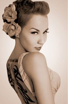 Pin up hair. Faux hawk/ ideas rockabilly wedding